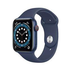"Apple Watch Series 6 Oled 1.73"" 44mm GPS 4G mély tengerkék sportszíjas okosóra"
