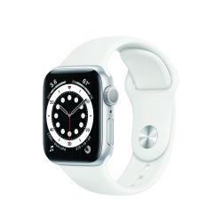 "Apple Watch Series 6 Oled 40mm 1.57"" GPS fehér sportszíjas okosóra"