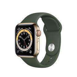 "Apple Watch Series 6 Oled 1.57"" 40mm GPS 4G ciprusi zöld sportszíjas okosóra"