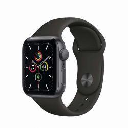 "Apple Watch SE Oled 1.57"" 40mm GPS fekete sportszíjas okosóra"