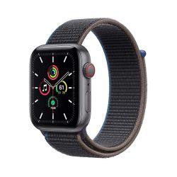 "Apple Watch SE Oled 1.73"" 44mm GPS 4G faszén sportszíjas okosóra"