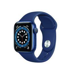 """Apple Watch Series 6 Oled 1.57"""" 40mm GPS tengerészkék sportszíjas okosóra"""