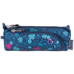 PULSE Dobby Blue Heart cipzáras kék-rózsaszín tolltartó