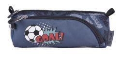 PULSE Score A Goal cipzáras szürke-kék tolltartó