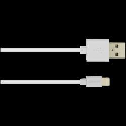 CANYON CNS-MFICAB01W Lightning - USB A, 5 V, 2.4 A, 1 m fehér kábel
