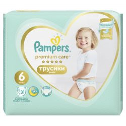 Pampers Premium Care 6 15+ kg szalagos pelenkacsomag (31 db)