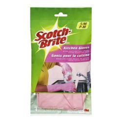 """3M ME821 """"Scotch-Brite"""" M méret, 1 pár rózsaszín gumikesztyű"""