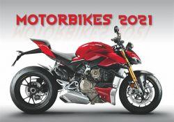DAYLINER Motorbikes 2021 450x315 mm fali naptár
