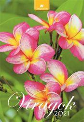 DAYLINER Virágok 2021 230x330 mm fali naptár