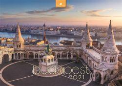 DAYLINER Budapest 2021 485x340 mm fali naptár