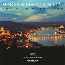 SZÁZSZORKÉP Magyarország csodái 2021 300x600 mm fali naptár