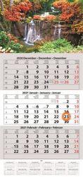 DAYLINER 2021 egy tömbös három hónapos speditőr naptár