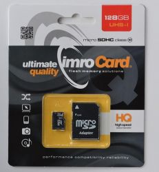 IMRO 10/128G UHS-I ADP MicroSDHC 128GB Class 10 memóriakártya