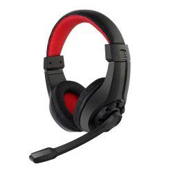 Gembird GHS-01 Gaming microphone & stereo headphones fekete-piros mikrofonos fejhallgató