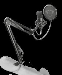 Trust GXT 252+ Emita Plus 16bit, 48kHz, USB fekete gamer streaming mikrofon