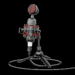 Trust GXT 244 Buzz USB, 16bit, 48kHz fekete-piros gamer streaming mikrofon