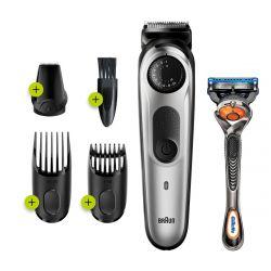 Braun BT5260 100 perc, preciziós gomb szürke-fekete szakállvágó Gillette Fusion5 ProGlide borotvával