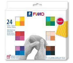 """FIMO """"Soft Basic"""" égethető 24 különböző színű gyurma készlet (24x25g)"""