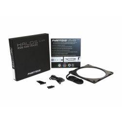 PHANTEKS Halos Lux 14cm RGB led Alu Fekete Ventilátor rács