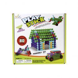 Jian Cun Toys 26529 (80 db) Play Stick rudak műanyag építőjáték