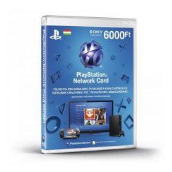 Sony PlayStation Network 6000Ft-os feltöltőkártya