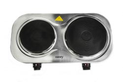Camry CR 6511 2500W 2 zónás fekete/ezüst elektromos főzőlap