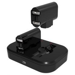 Dual töltő. Dual elem csomag Xbox One™ kontrollerhez. 700mAh újratölthető elemek - Lithium Polymere, 12 óra játékidő. A töltő a konzolhoz csatlakozik. 2,5 m USB töltő kábellel szállítva.