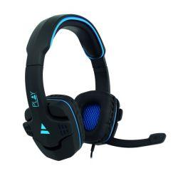 Ewent PL3320 2.0 vezetékes fekete-kék Gaming Headset