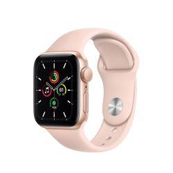 """Apple Watch SE Oled 1.57"""" 40mm GPS homokrózsaszín sportszíjas okosóra"""