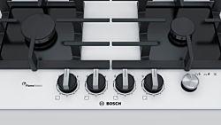 Bosch PPP6A2M90 7500W 4 zónás fehér beépíthető gáz főzőlap