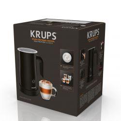 Krups XL100810 360 fokban forgatható, rejtett fűtőelem fekete tejhabosító