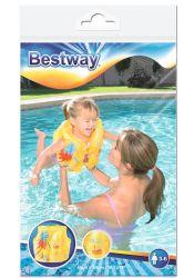 Bestway 41x30 cm sárga trópusi mintás úszómellény