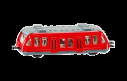 Siku 34674 (7 cm) piros Hév vonatkocsi