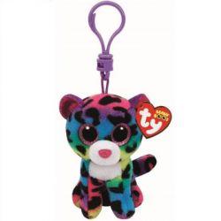 TY TY35012 Beanie Boos Clip Dotty leopárd plüss kulcstartó 9 cm