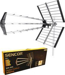Sencor SDA-640 DVB-T, UHF 470 - 862 MHz, ezüst digitális kültéri antenna