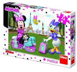 Dino 351561 Minnie egér Párizsban 24 darabos puzzle