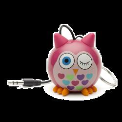 KitSound 2W bagoly rózsaszín mini hangszóró