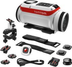Tomtom Bandit Premium fehér/piros Akció kamera kiegészítőkkel