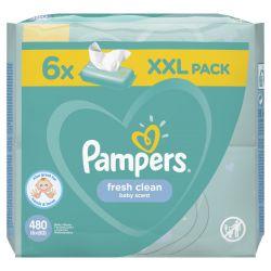Pampers Fresh Clean 480 darabos nedves törlőkendő