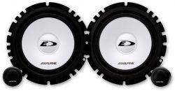 Alpine SXE-1750S 45 W RMS 2 utas komponens 16,5 cm fekete hangsugárzó szett