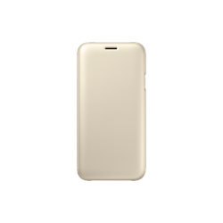 Samsung Galaxy J7 (2017) EF-WJ730CFEGWW Wallet műanyag arany flip tok