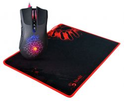 A4-TECH A9081 (A90+B081) 4000DPI fekete-piros gamer egér + egérpad