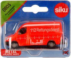Siku 39340 (1:55) piros Mentőautó
