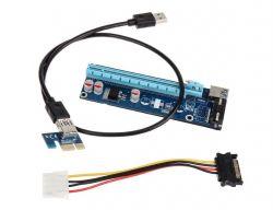 Kolink ZURC-006 Riser PCI-express X1 - X16 + táp mining-rendering kit