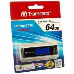 Transcend Jetflash 760 32GB USB 3.0 fekete pendrive