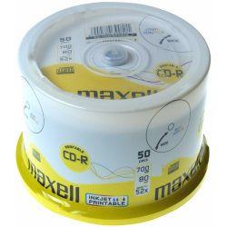 MAXELL CD-R80 50db/Henger 52x, nyomtatható CD lemez (Adathordozó)
