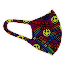 Alcor 3D Spandex (6-12 éves korig) smiley Mosható többször használható gyerekmaszk