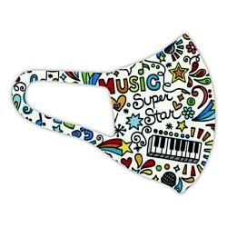 Alcor 3D Spandex (6-12 éves korig) zenés Mosható többször használható gyerekmaszk