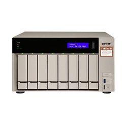 QNAP TVS-873e-4G AMD RX-421BD 2.1GHz 4GB 8-lemezes arany NAS szerver