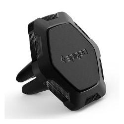 Spigen Kuel Signature QS11 mágneses hatszög alakú univerzális szellőzőrácsba szerelhető fekete autós tartó